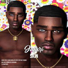 ELITE FACES — JAFARI SKIN DOWNLOAD Sims 4 Hair Male, Sims 4 Black Hair, Sims Hair, Sims 4 Cas Mods, Sims 4 Body Mods, Sims 4 Male Clothes, Sims 4 Cc Kids Clothing, Sims 4 Cc Eyes, Sims Cc