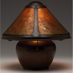 65: Dirk Van Erp lamp, bean pot form : Lot 65
