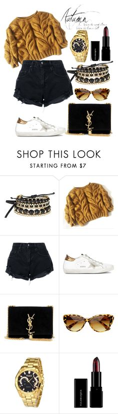"""""""Untitled #139"""" by liillaaaaaaaa ❤ liked on Polyvore featuring Avon, Nobody Denim, Golden Goose, Yves Saint Laurent and SW Global"""