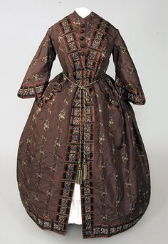 Chocolate Brown Silk  Wrapper, 1850s - Lot 96 $6,900