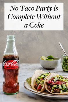No Taco Party is Complete Without a Coke. Click through to make sure your fridge is stocked with Coke. Mexican Food Recipes, Vegetarian Recipes, Cooking Recipes, Dinner Recipes, Healthy Breakfast Recipes, Healthy Recipes, Thai Street Food, Taco Party, Lunches And Dinners