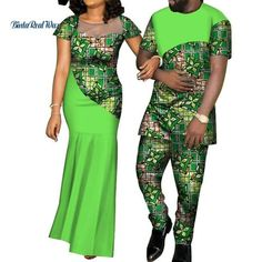 Image of Kente Afrik Couple Clothing Set I LOVE YOU-FrenzyAfrican. Short African Dresses, Latest African Fashion Dresses, African Print Dresses, African Print Fashion, African Shirts For Men, African Clothing For Men, African Clothes, Couples African Outfits, African Attire
