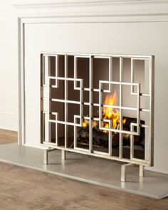 Tis company also has other styles. Dominic Fireplace Screen at Horchow.