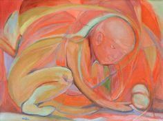 "Saatchi Art Artist Aida Markiw; Painting, ""Precious Childhood"" #art"