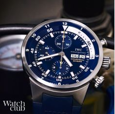 Cousteau Calypso limited edition chronograph, at home in the deep #iwc