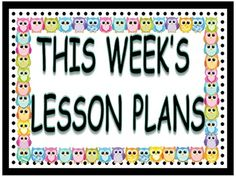 Just post this on your bulletin board above your lesson plans for the week. Or glue to the outside of a folder and hang up for all to see.  This one is a principal pleaser, as well as a Substitute teacher pleaser.  Enjoy!