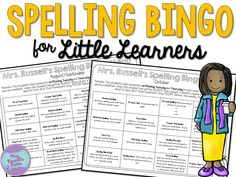 Rethinking Homework with this spelling bingo pack Spelling Word Games, Spelling Worksheets, Spelling Lists, Spelling Activities, Learning Activities, Activities For Kids, School Fun, School Ideas, Little Learners