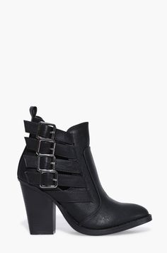 Dominic Buckled Booties in Black