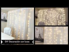 DIY: Decoración con luces - YouTube