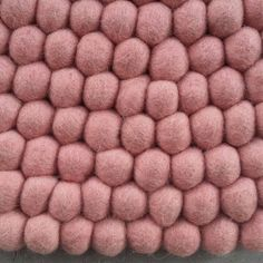 Pastel Pink Felt Ball Rug