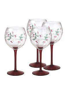 Pfaltzgraff Winterberry Wine Goblets Set of 4 #belk.com