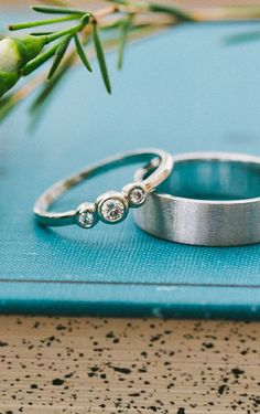 Moissanite Sterling Silver Ring.perfectly simple