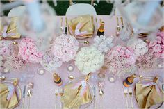 Pink and Gold Wedding Colors #Whimsical Wedding Bliss