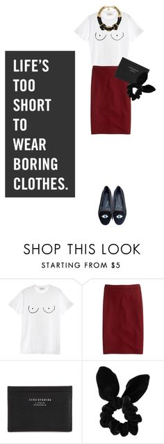 """""""Life is too short to wear boring clothes"""" by natyleygam ❤ liked on Polyvore featuring Diesel, J.Crew, Acne Studios, Topshop, John & Pearl and Butter London"""