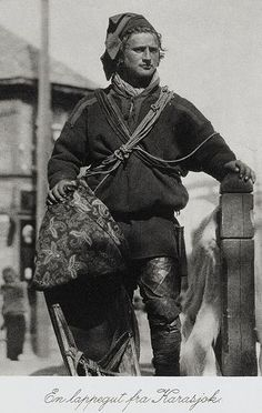 Resident of Bear Island • A young Sami man from Finnmark Norway c. 1880 - 1910