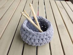 Crafty Lemon: Make yarn from an old t-shirt and crochet it into a bowl.
