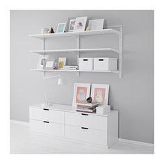 ALGOT Wall upright/shelves IKEA with Nordli 4-drawer dresser.