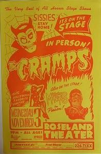 Cramps, No Sissies  Portland Oregon Punk Flyer Concert Poster Nov 3 1999