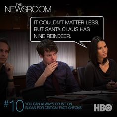The Newsroom. You can always count on Sloan.