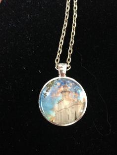 LDS Temple Pendant Necklace (St George Ut) by EverythingsDuckyBout on Etsy