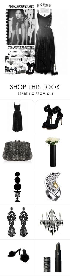 """""""Black & White Gowns"""" by jcmp ❤ liked on Polyvore featuring Undress, WALL, Serpui, Marc, Seletti, John Lewis, Universal Lighting and Decor, AZZA FAHMY, Gucci and Lipstick Queen"""