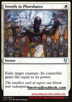 Swords to Plowshares.full C17 - Commander 2017 magic the gathering mtg proxy cards from $0.37 all cards available customize