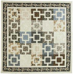 Fujita Maze: Sophisticated Modern Asian Bed Quilt Pattern