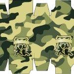 Caixa Sabonete Kit Militar Camuflado