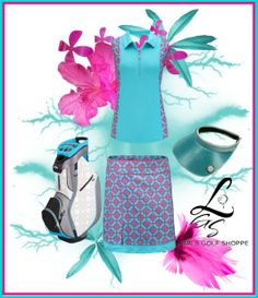 Perfect color combo of blue and magenta! Check out fab sets at lorisgolfshoppe.polyvore.com for golf outfit inspiration! #golf #golfstyle #ootd #lorisgolfshoppe
