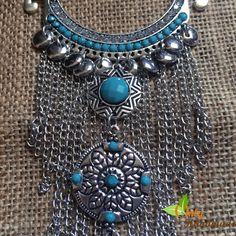 Silver Coins Bohemian Tassel Pendant Necklace