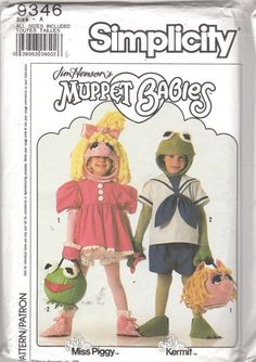 Simplicity 9346 Childs Muppet Babies Costume Pattern by mbchills