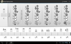 Flute is awesome Flute Fingering Chart, Clarinet, Android Apps, Google Play, Sheet Music, Notes, Learning, Awesome, Report Cards
