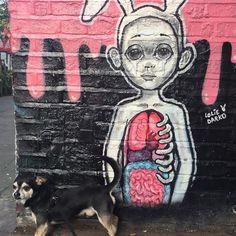Bruno keeping watch for @lolie_darko earlier today. #streetart #wallporn #urbanart #loliedarko #graff #instagraff #bricklanestreetart #shoreditchstreetart #bruno #chihuahua #chi #chihuahuasofinstagram #shoreditchhounds by kitlevijones from Shoreditch feed from Instagram hashtag #shoreditch www.justhype.co.uk Hype Store - Boxpark Shoreditch.