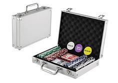 KOVOT 200 Chip Dice Style Poker Set In Aluminum Case (11.5 Gram Chips)