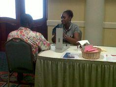 The Sparman Clinic providing free health checks at Accra Beach Hotel, Barbados.
