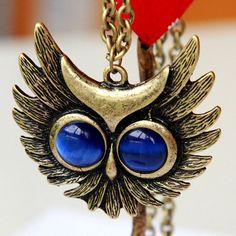 Oversized owl necklace $6.99 Etsy