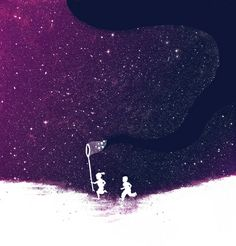 """Starfield - Purple Art Print"" by Budi Satria Kwan (http://budikwan.com/)"