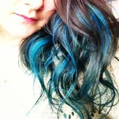 royal blue and turquoise streaks - Google Search