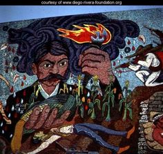 History of the Theatre in Mexico (detail) - Diego Rivera - www.diego-rivera-foundation.org