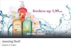 Avon Rep Tip: Blissful scents with Senses hand soaps, now ONLY $4.99 each!