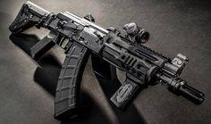 Ak 47 Tactical, Tactical Rifles, Firearms, Military Weapons, Weapons Guns, Guns And Ammo, Ak Pistol, Battle Rifle, Custom Guns