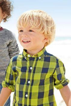 Acheter Chemise à carreaux vert citron/bleu marine (3 mois - 6 ans) disponible en ligne dès aujourd'hui sur Next : France