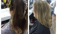 16/2/15 - lady came in for half head highlights and blowdry. I used bleach with 6% and then 9% through the top and 10/1 with 12% to cover the warmth of her previous colour. To finish off her requirements I did a round brush blowdry, creating volume and movement on the ends. My lady was very happy with her hair.