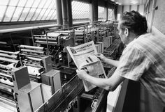 Ein Blick in unser #Druckzentrum von #1987. Nach dem Zusammenschluss der Neuen Tagespost und dem Osnabrücker Tageblatt  erschien übrigens am 02. Oktober 1967 die allererste Ausgabe der #Neuen #Osnabruecker #Zeitung. www.noz.de
