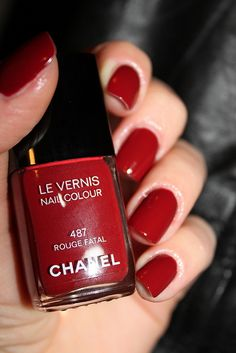 Chanel Nail Polish Rouge Fatal # 487, PERFECT for almost all outfits!