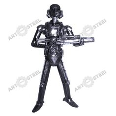 This StormTrooper is created out of scrap spark plugs, steel bars, nuts and bolts, sheet steel, and steel wire.  $199.99