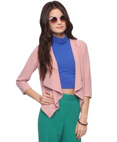 Waterfall Collar Jacket | FOREVER21 - 2000038025. $22.80