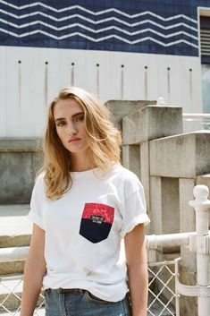 """Artwork by HammerAlbrecht for the fashion collection of the international streetwear label """"The Quiet Life"""" (Los Angeles) and the shop """"Stil Laden"""" (Vienna). Hair Makeup, Street Wear, V Neck, T Shirts For Women, Vienna, Artwork, Model, Life, Shopping"""