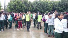 #P10SantaRosa30 del #Cobaem_Morelos efectuó simulacro de sismo con lluvia para saber actuar. #juventudcultayproductiva #juventudcultayprecavida