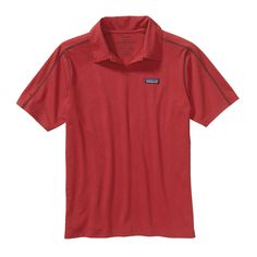 The Patagonia Men's P6 Stretch Polo is Fair Trade Certified with 50  UPF protection, letting you flex through big moves and feels light and airy!   #FairTrade #organic #apparel